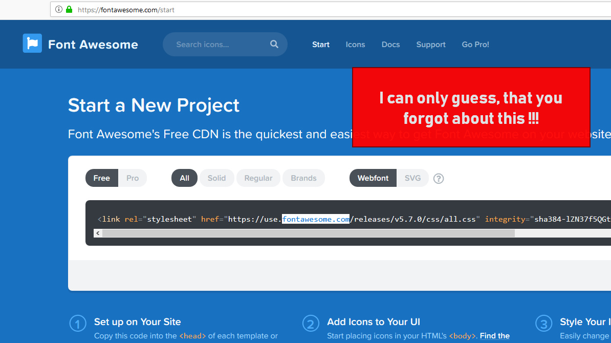 font awesome pro css download