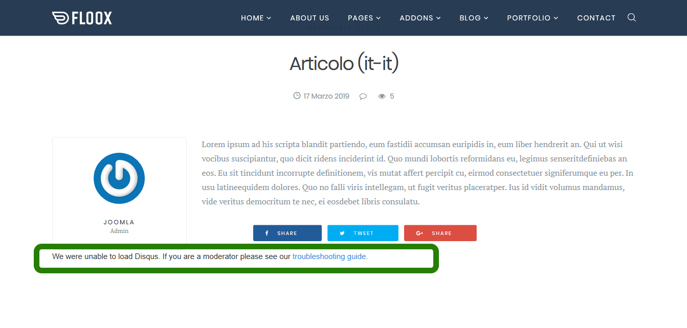 How to activate disqus on blog